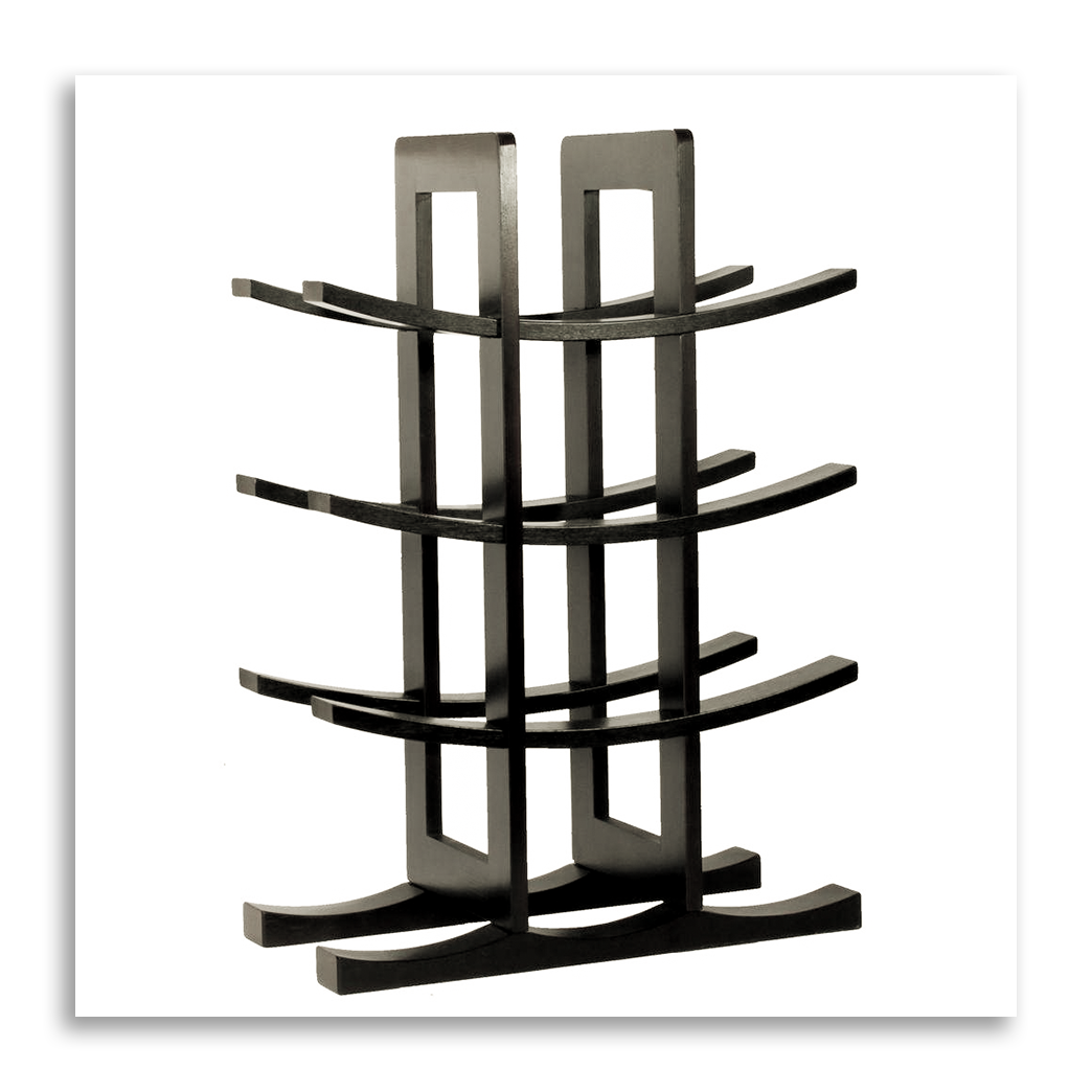 Image of a cheap countertop wine rack.