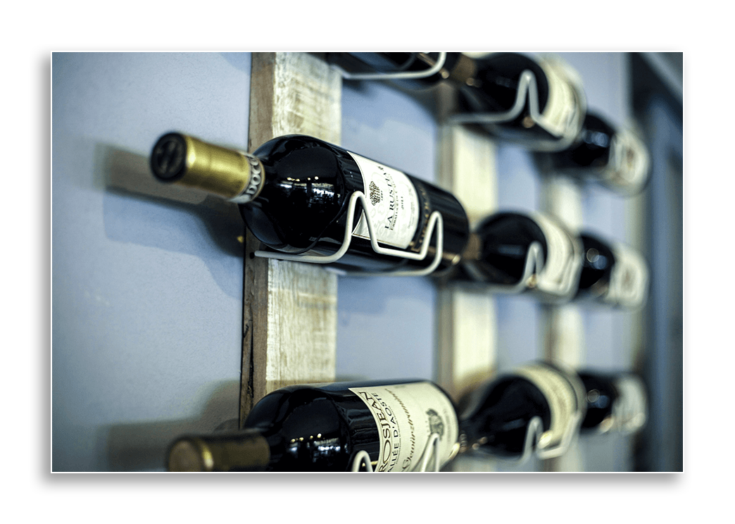 Image of a cheap wall mounted wine rack.