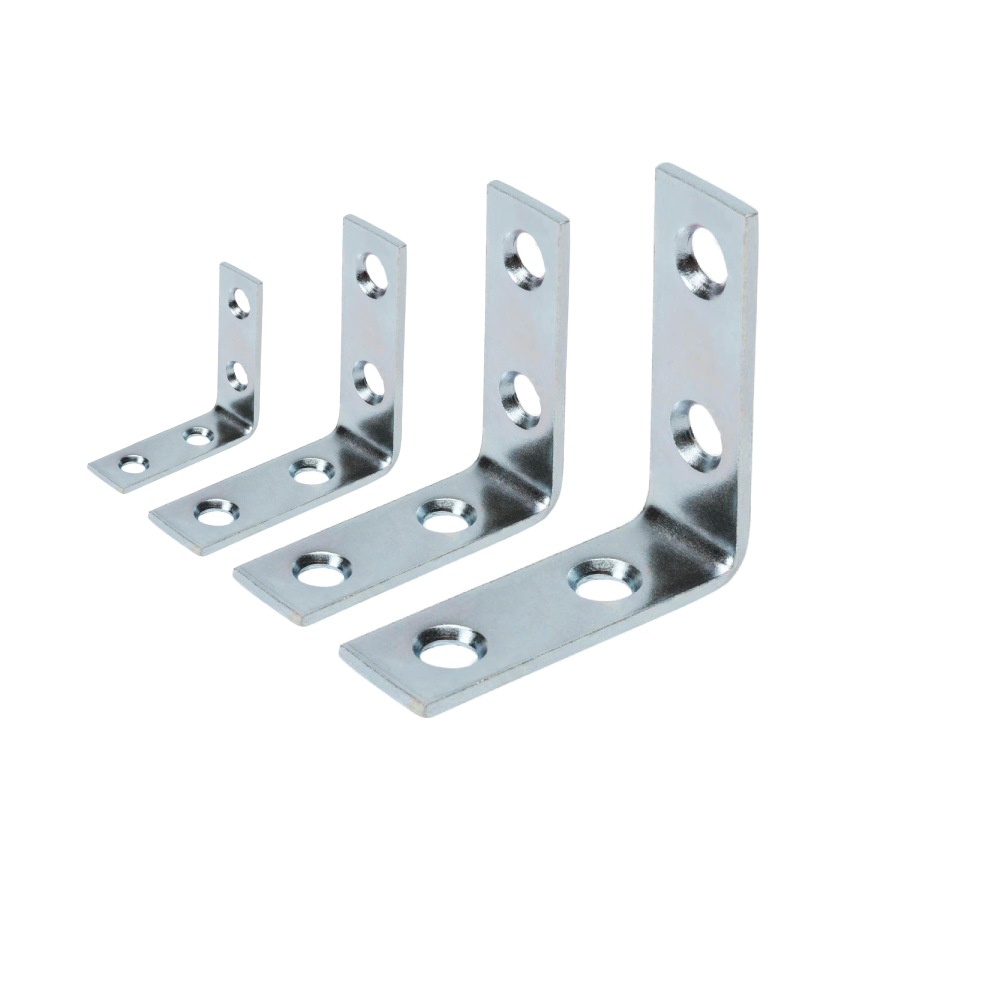 Image of L-brackets to fasten wine racks to the wall.