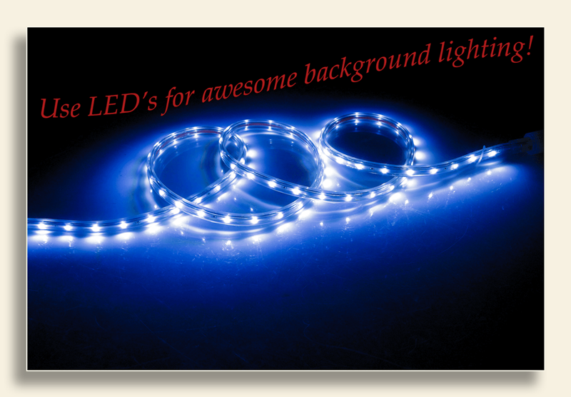 Image of LED strip lighting.