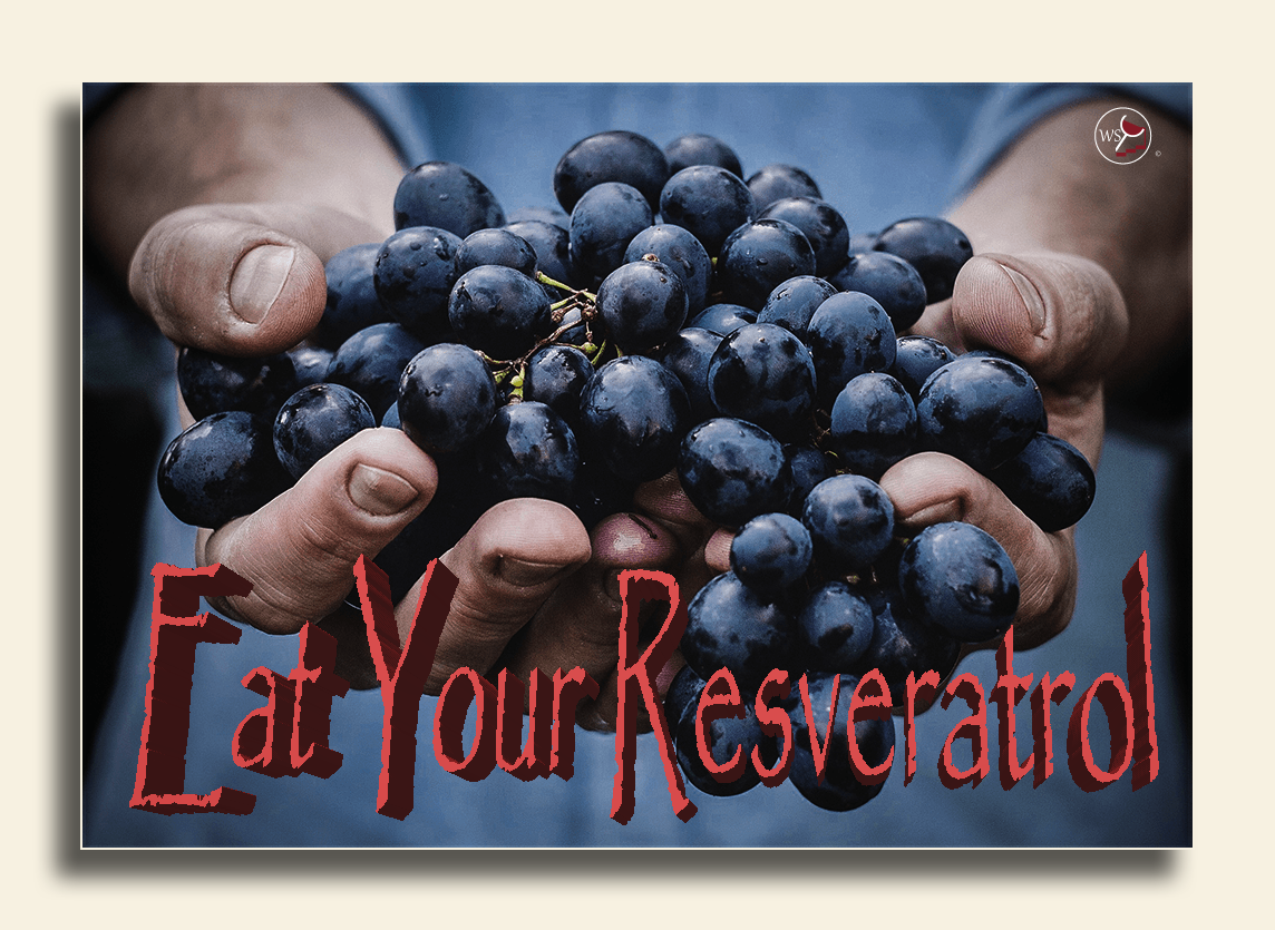 Image showing one of the most potent red wine antioxidants - resveratrol.