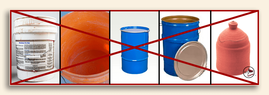 Image showing poor fermenting containers
