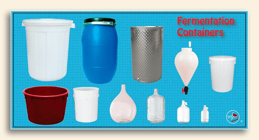 Image showing many types of fermentation containers