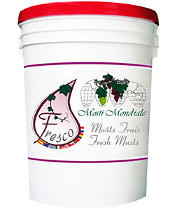 Image of a pail full of fresh wine making juice.