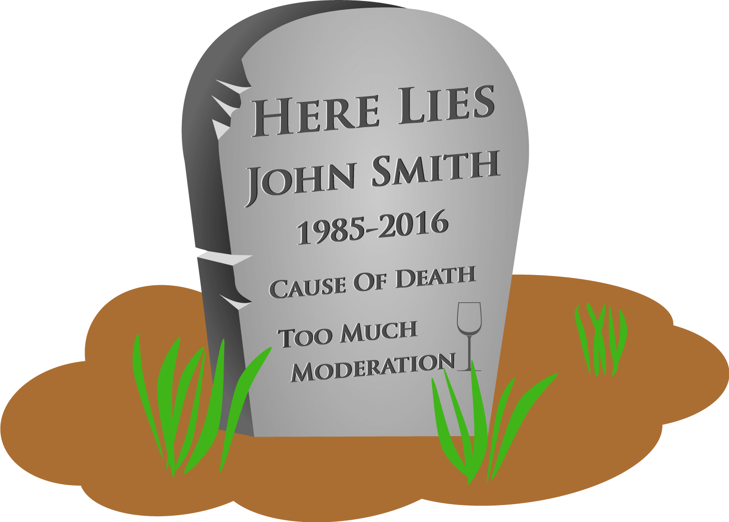 Image showing a headstone with the words