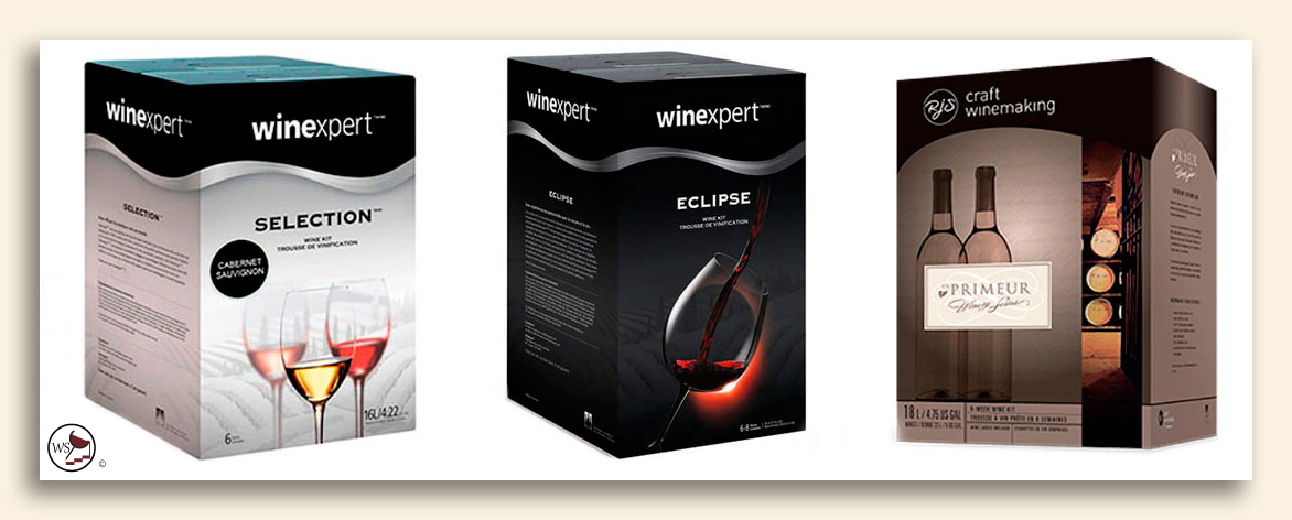 Image showing a collage of three wine kits