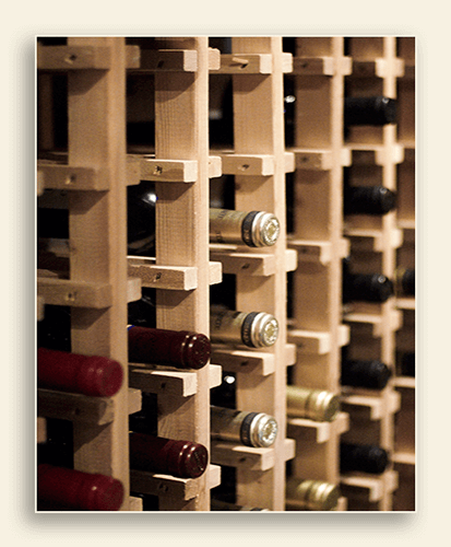 Image of a wine rack.