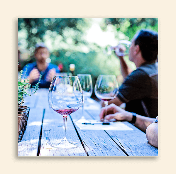 Image of people drinking wine.